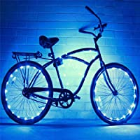 Bicycle Light 2 Set of Bike Wheel Light String Ultra Bright LED Assorted Colors Bicycle Tire Accessories Bike Rim Lights Bicycle Spoke Lights Ultra Bright LED Waterproof Wheel Light