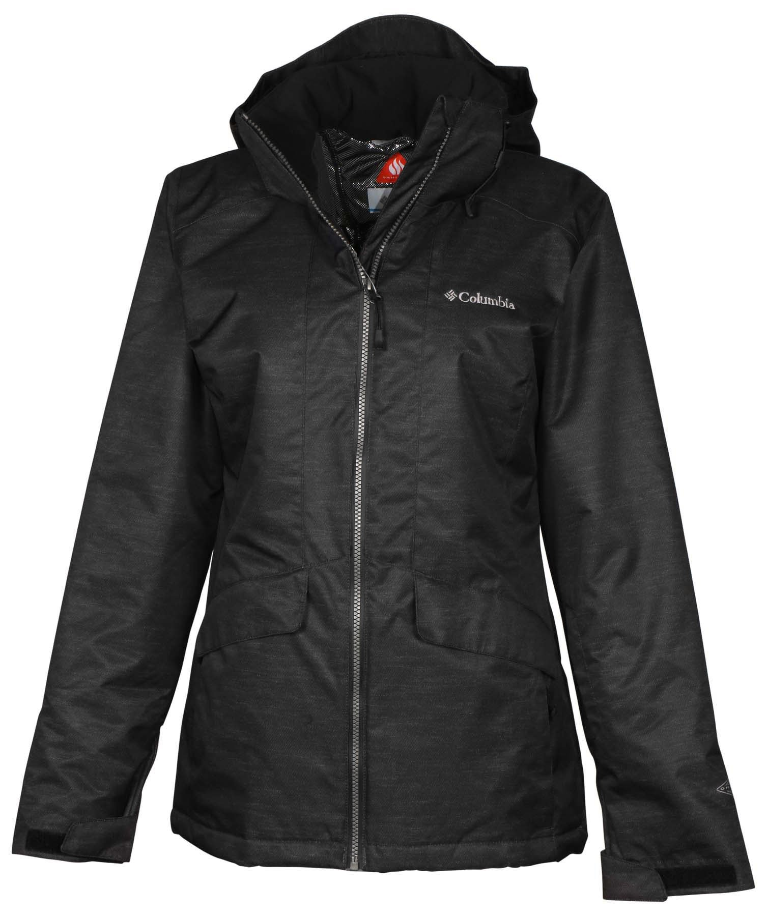 Columbia Women's Ankeny Hill Omni-Tech Jacket-Dark Gray-Small by Columbia