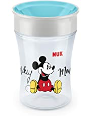 NUK Magic Cup Trinklernbecher, 360° Trinkrand, auslaufsicher abdichtende Silikonscheibe, 230ml, 8+ Monate, BPA-frei, Mickey Mouse Edition