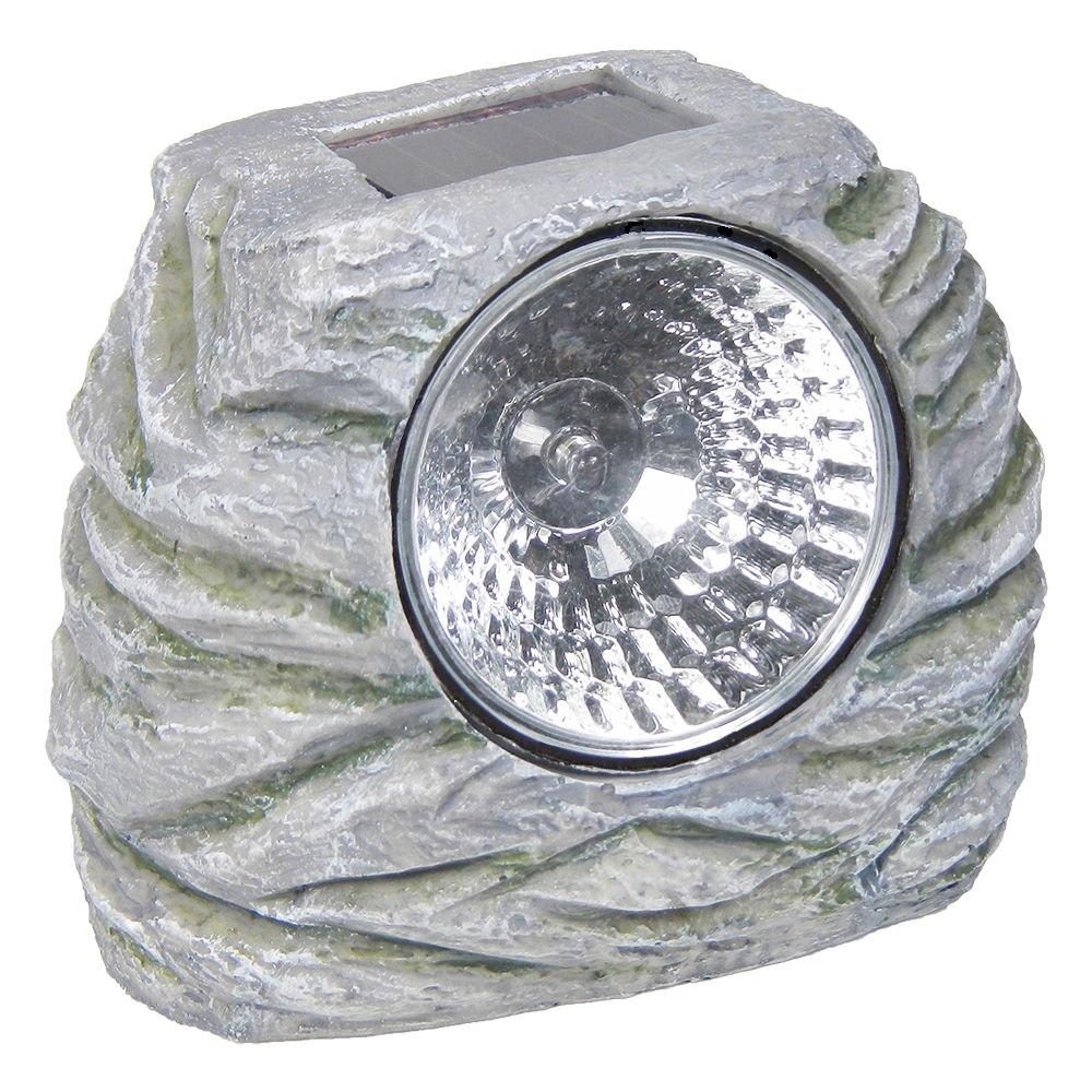 Commart 12 Outdoor Garden LED Solar Deco Rock Stone Spot Lights Landscape Lamp Yard Post Ships from USA