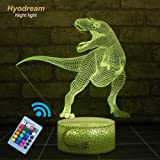 Hyodream Dinosaur Lamp,Dinosaur Night Light Kids Night Light,16 Colors with Remote 3D Optical Illusion Kids Lamp as a Pefect Gifts for Boys and Girls on Birthday or Holiday (Tyrannosaurus)