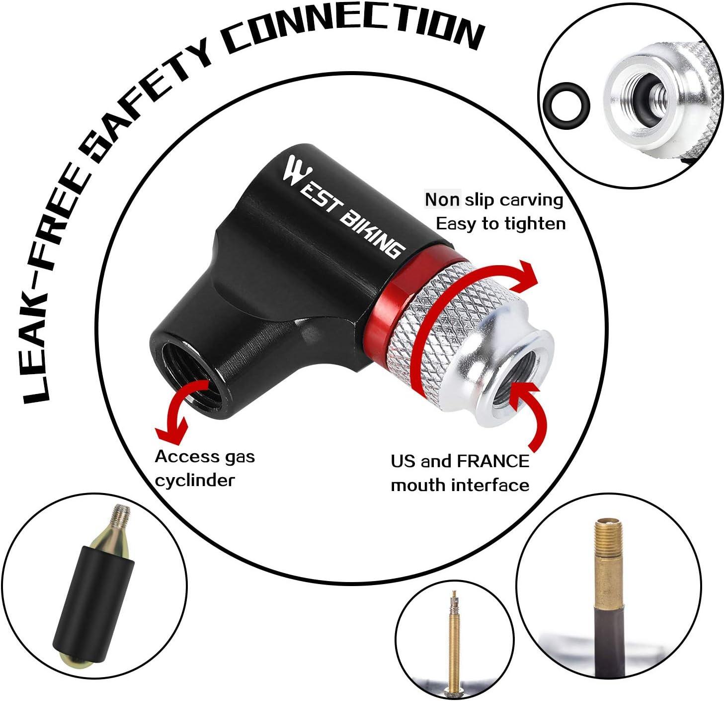 WEST BIKING Bike CO2 Inflator w// Insulated Sleeve No CO2 Cartridge Included