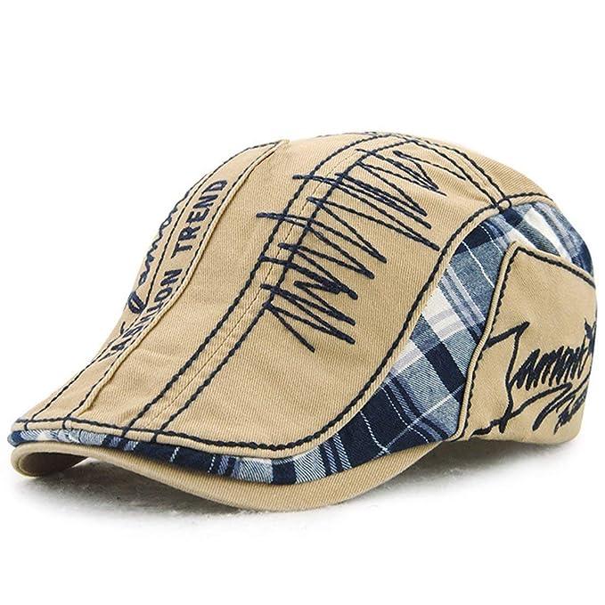 BOLAWOO Sombrero Plano Bordado De Hombre Gorro De Gorra Hiedra Vintage De  Casquillo Mode De Marca Plano De Moda Sombrero De Boina (Color   Beige 3c5100c80ff