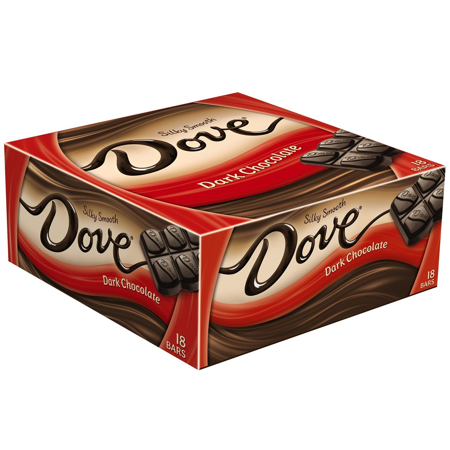 DOVE Dark Chocolate Singles Size Candy Bar 1.44-Ounce Bar 18-Count ...