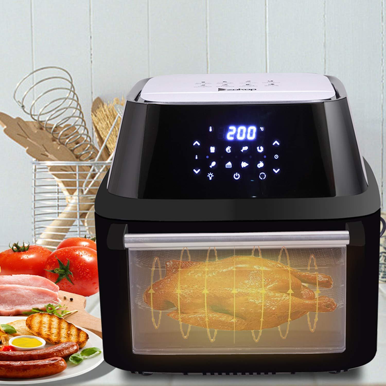 Air Fryer Oven, 16.91Quarts 16L Electric Digital Air Fryer 1800W with Timer, 8 Cooking Presets, 8 Accessories, 180-400 F Temperature Controls, Dehydrator Control 90-170 F US STOCK Air Fryer-16.91Quarts 16L 1800W
