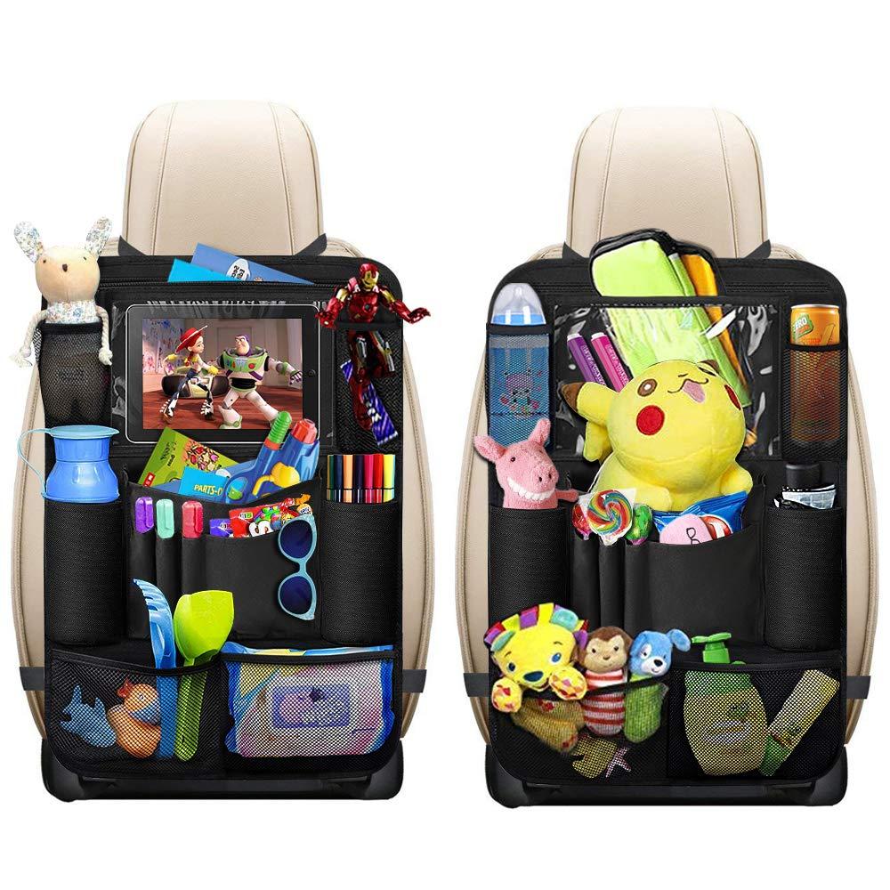 2 STÜCK Auto KFZ Tasche Spielzeugtasche Rücksitztasche Rückenlehnenschutz Schutz