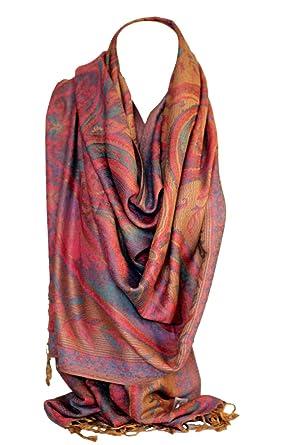 Bullahshah Écharpe en Étoffe Fine Magnifique Imprimé Ethnique Couleurs  Riches (Beige Rose)  Amazon.fr  Vêtements et accessoires 115d9ad2a36