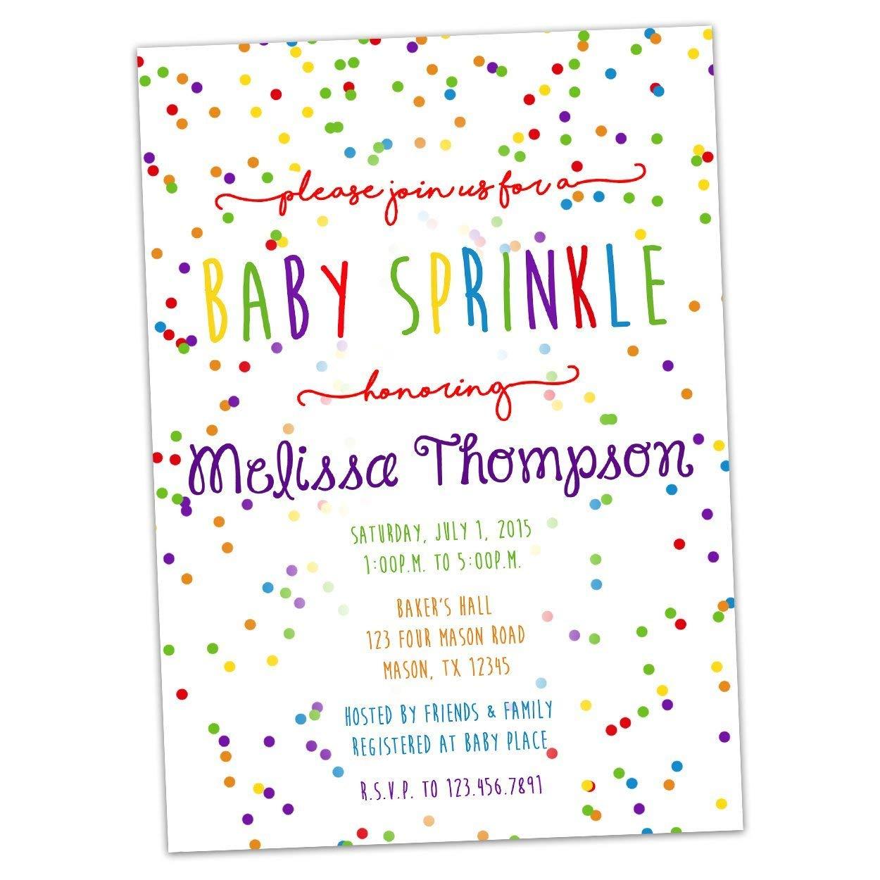 Sprinkle Shower Invite Matching Envelope Liner Confetti Invite Sprinkle Invite Matching Envelope Inserts Sprinkle Invitation