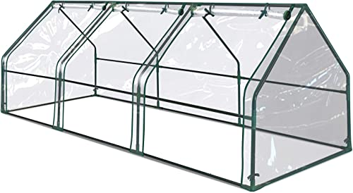 BenefitUSA Portable Mini Greenhouse Small Garden Greenhouse for Plants Flowers Vegetables 3 X7.9 X3