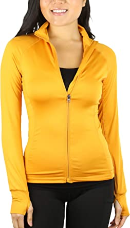 ToBeInStyle Womens Long Sleeve Full Zip-Up Track Jacket