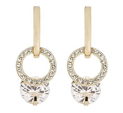 Clip On Earrings - Gold Plated Rhinestone Knot - Honey by Bello London SYVjdSZ