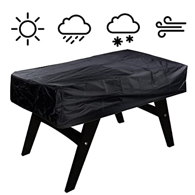 "NEVERLAND Outdoor Soccer Foosball Table Cover Waterproof Dustproof Universal Patio Coffee Chair Billiard Game Room Cover Black 300D Oxford Cloth 63"" x 45"" x 19.7"" Inch : Garden & Outdoor"