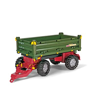 rolly toys Multi Double Axel Trailer, Green: Toys & Games