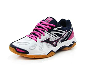 Mizuno MIZUNO Wave Phantom Handballschuh Damen, weiß, weiß / rosa