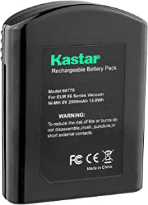 Kastar EK60776 Battery (1 Pack), Ni-MH 6V 2500mAh, Replacement for Eureka60776 60776 68112 39150 25-0010-02 Eureka 96A 96A-1 96B 96D 96DZ 96DZ-1 96F 96F-1 Eureka Quick Up 2-in-1 Cordless 96H 96JZ 97A