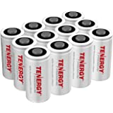 Tenergy Premium CR123A 3V Lithium Battery, [UL Certified] 1600mAh Photo Lithium Batteries, Security Cameras, Smart Sensors, Specialty Devices, 12 Pack (Non-Rechargeable), PTC Protected