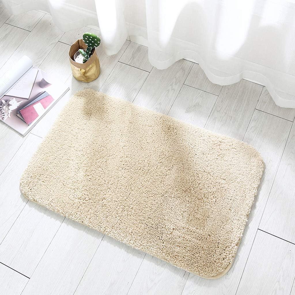 Absorbent Haut en Peluche Tapis de Bain Color : Beige XURURR /Épais Tapis Anti-d/érapant