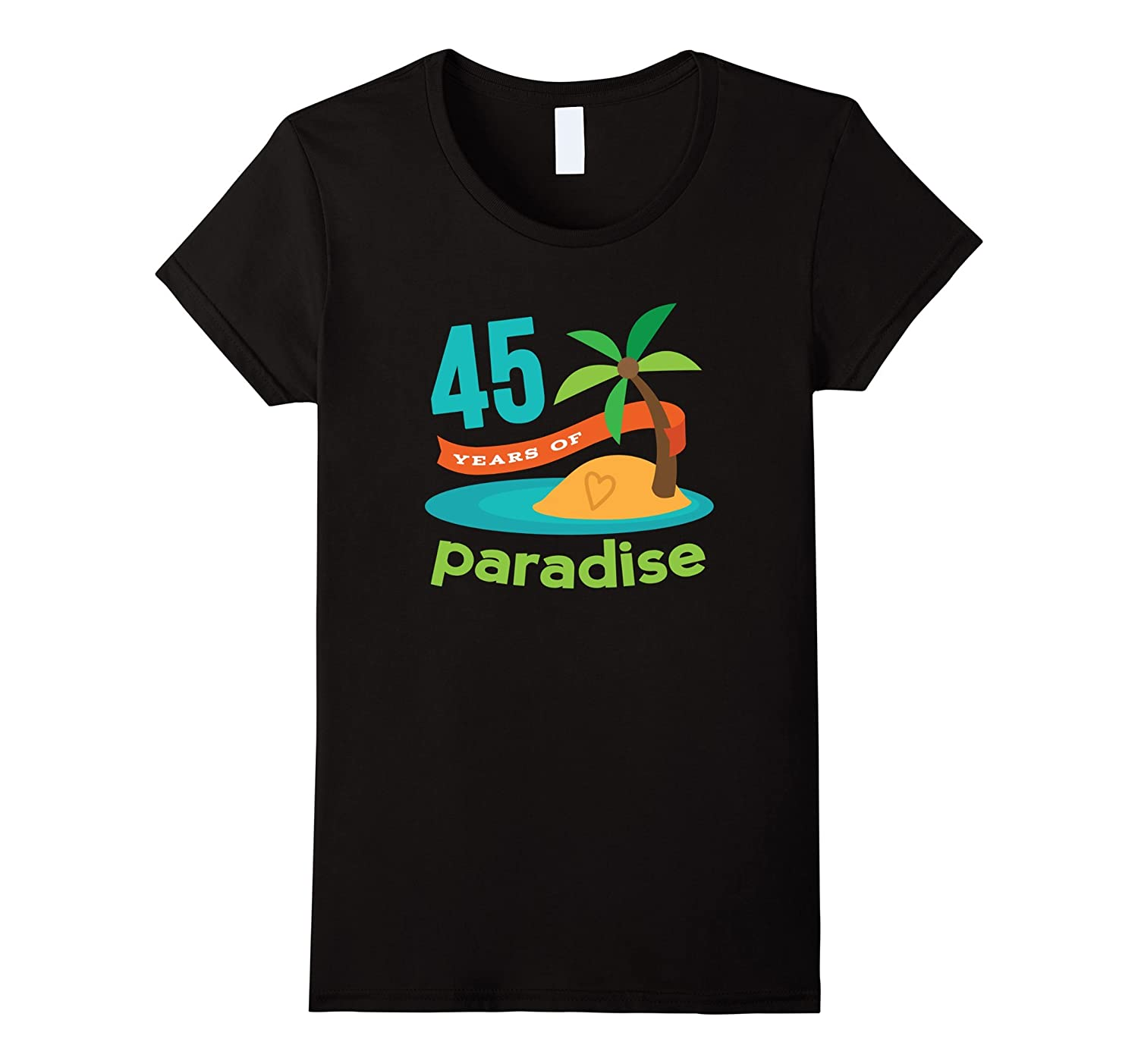 45th Anniversary Shirt Couples Tropical Party Tee