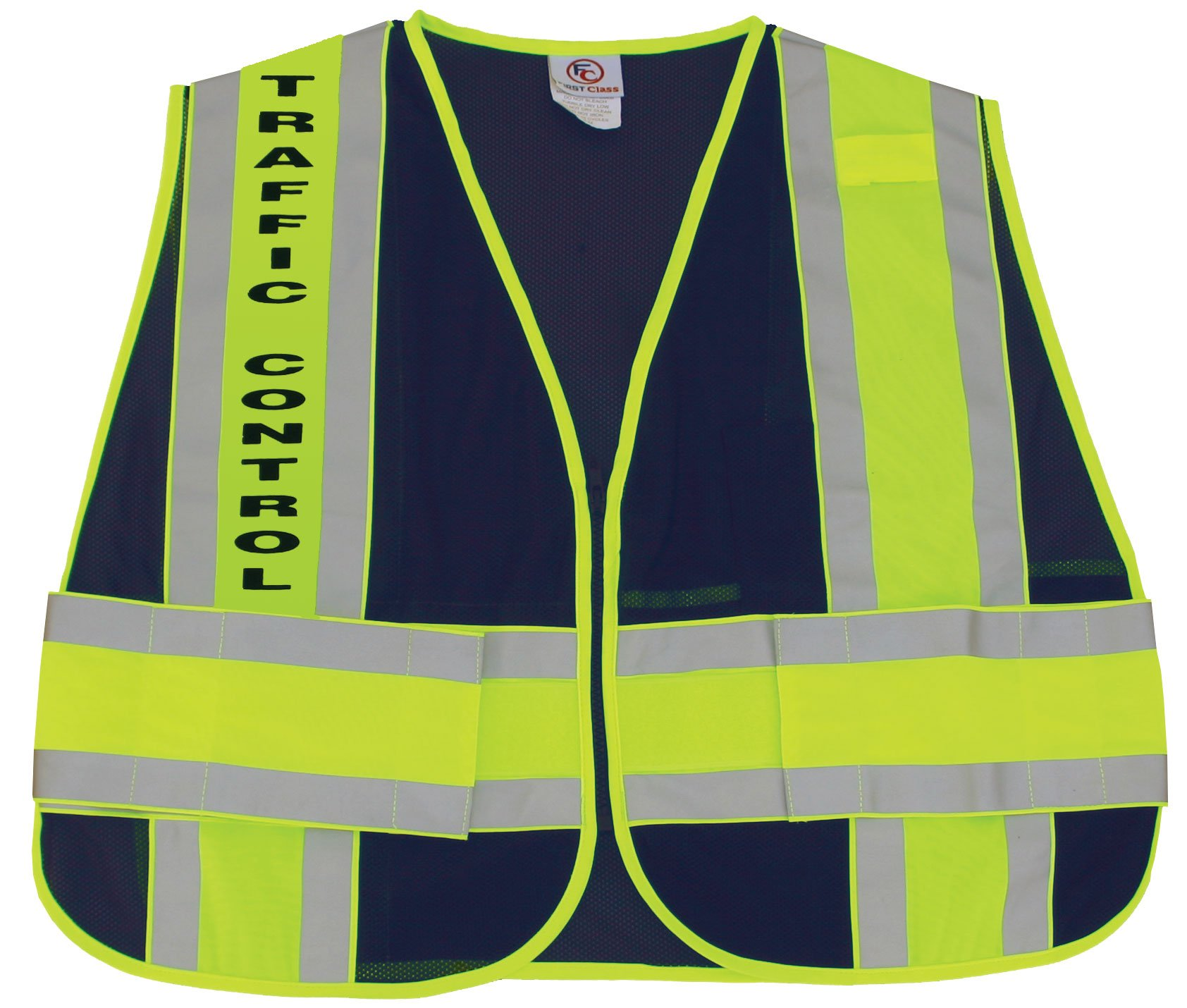 First Class Reflective Duty Vest-Traffic Control ID/Large/XL