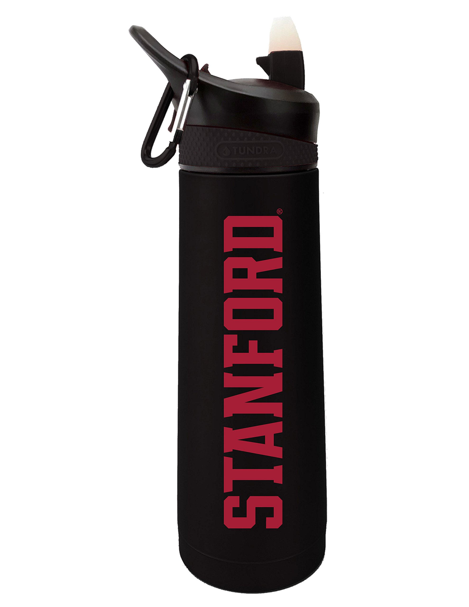 Fanatic Group University of Stanford Dual Walled Stainless Steel Sports Bottle, Design 1 - Black