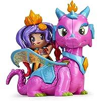 Pinypon- Reina y Dragón Volador niñas a Partir de 4 años (Famosa 700015547)