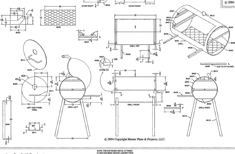 Amazon johnson trailer parts 32 x 20 bbq pit grill plans amazon johnson trailer parts 32 x 20 bbq pit grill plans blueprints model p 1304 automotive malvernweather Images