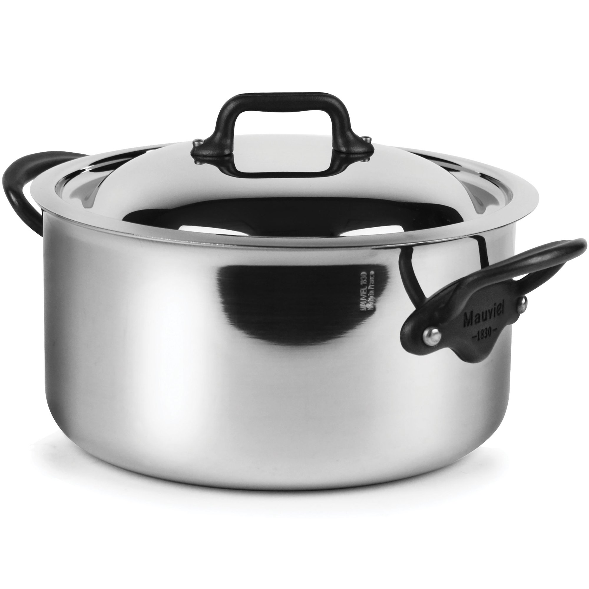 Mauviel M'Cook Pro 5-ply Stainless Steel 3.6-quart Casserole with Lid