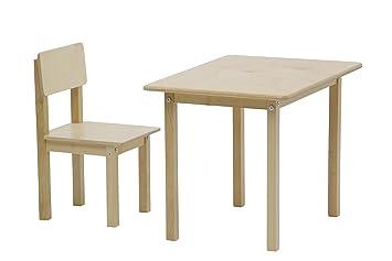 Polini Kids Kindersitzgruppe Simple 105 Natur Aus Naturholz