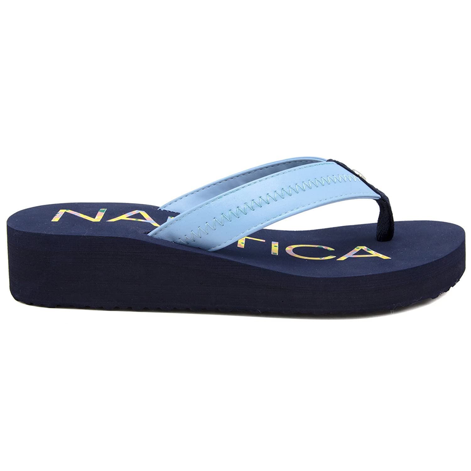 8319dc96854aa Nautica Women's Tedori Wedge Flip Flop, High Fashion Beach Sandal ...