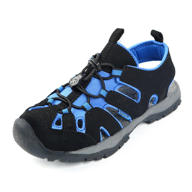 Northside Burke II Athletic Sandal,Black/Royal,4 M US Big Kid