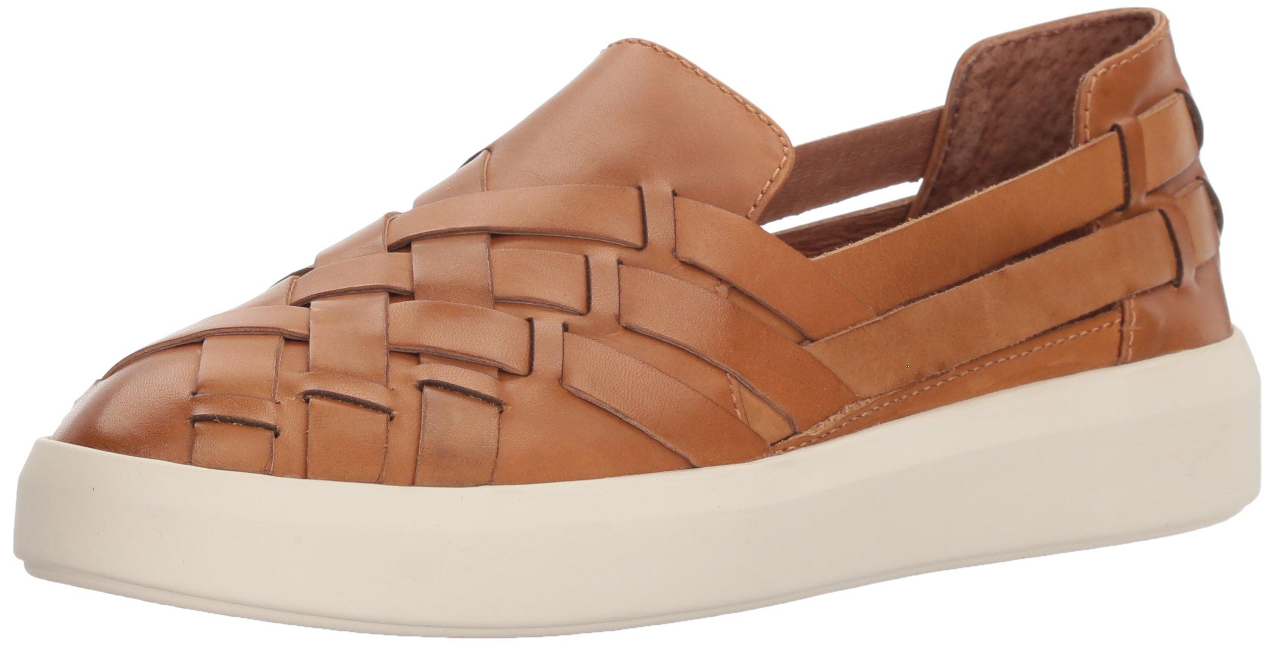 FRYE Women's Brea Hurache Slip On Sneaker, Tan, 8 M US