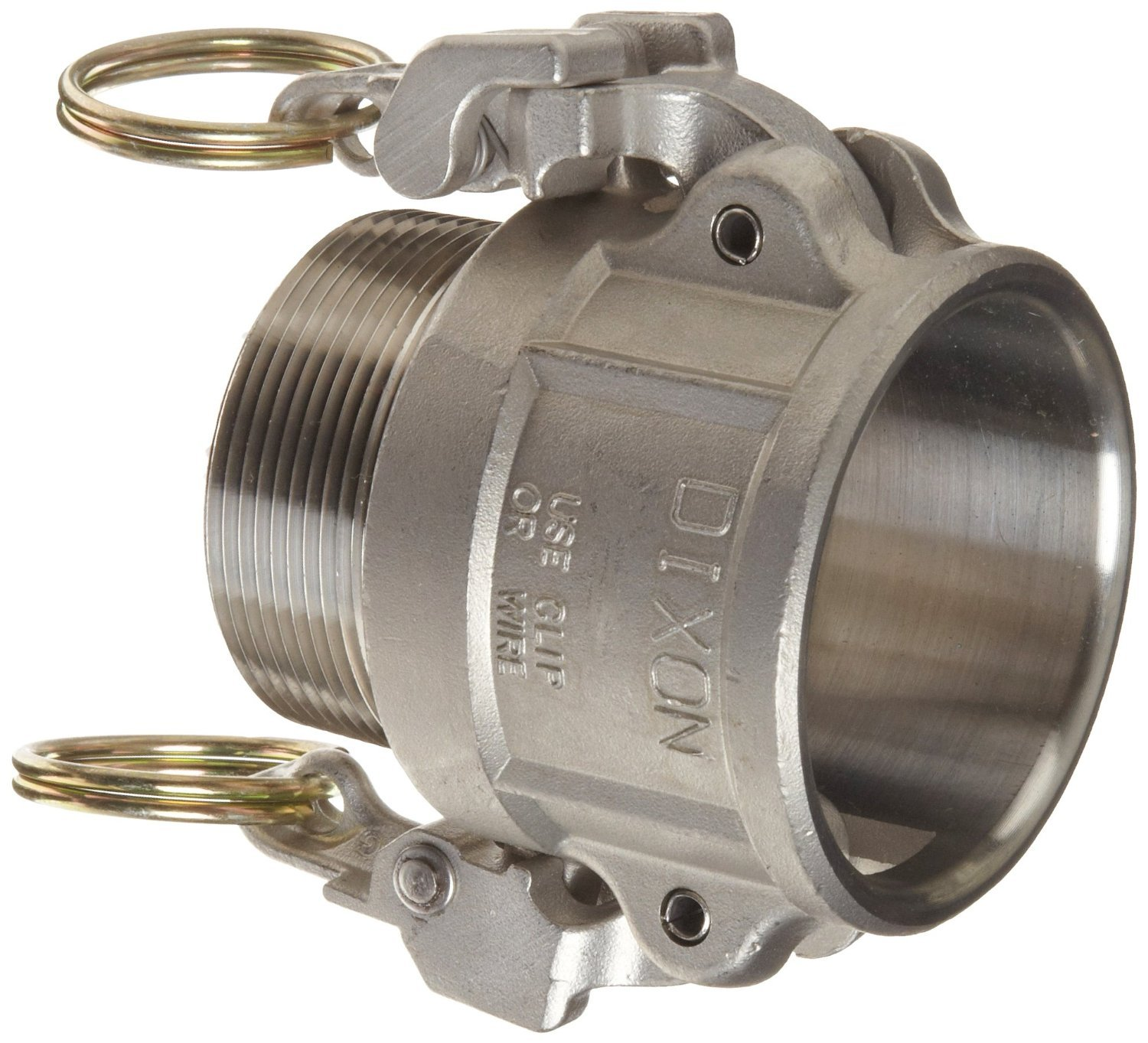 Dixon RB200EZ Stainless Steel 316 EZ Boss-Lock Type B Cam and Groove Hose Fitting, 2'' Socket x 2'' NPT Male