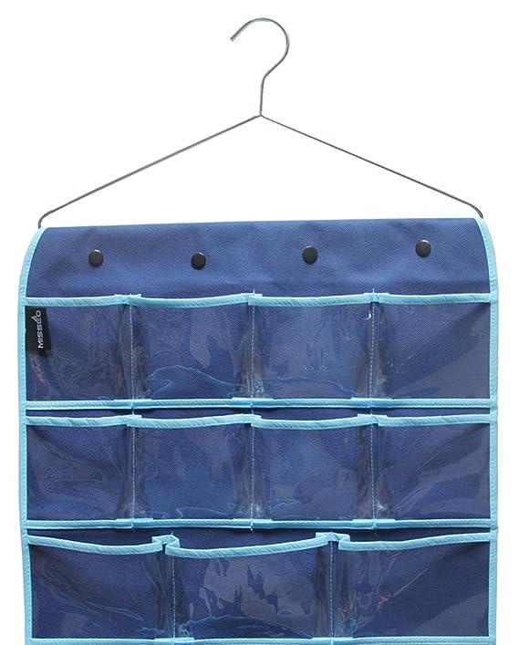 Amazon.com: MISSLO Hanging Closet Dual-sided Organizer Bra Underwear Socks Jewelry Storage 42 Pockets, Blue: Home & Kitchen