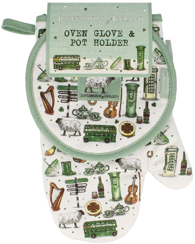 Shamrock Gift Company Impressions of Ireland-Oven Glove and Pot Holder
