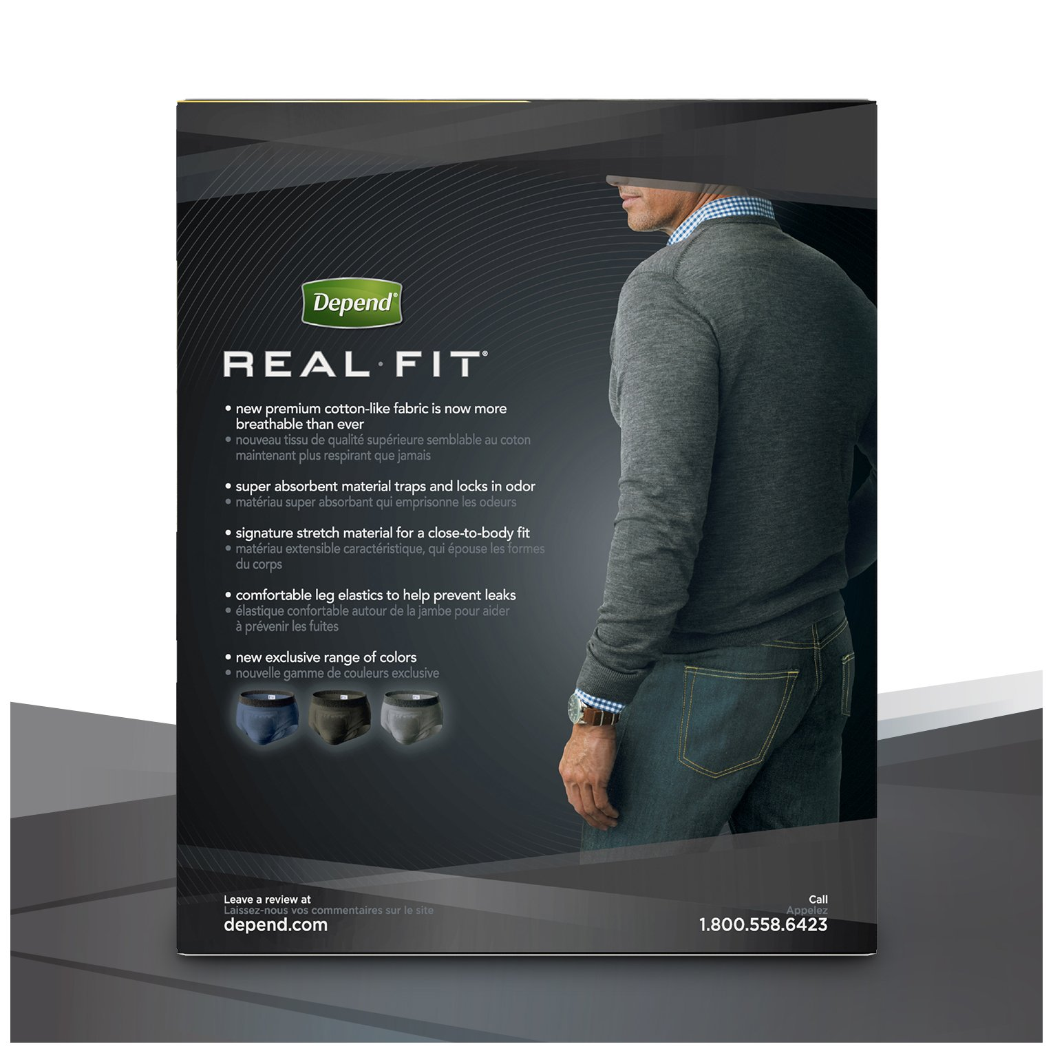 Depend Real Fit Incontinence Briefs for Men, Maximum Absorbency, S/M, Grey by Depend (Image #11)
