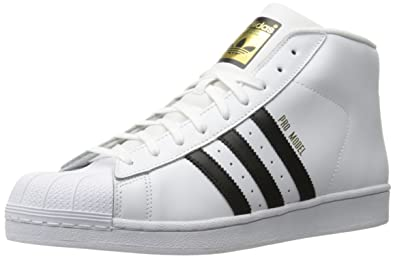 cheap for discount c281c b7fd7 adidas Originals Mens Pro Model-m Running Shoe, BlackWhite, (4.5