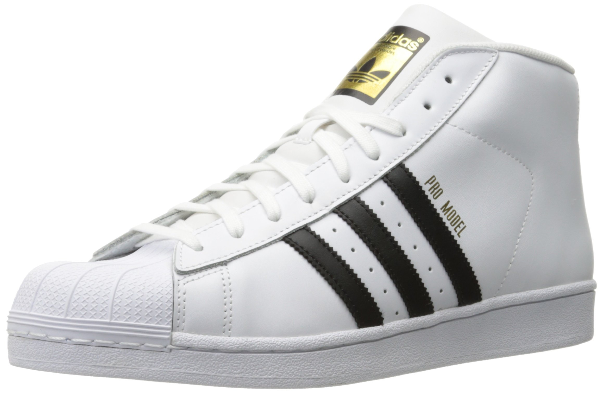 newest 0a2d1 711b7 Galleon - Adidas Originals Men s Pro Model-m Fashion Sneaker, White Black  White, 4 M US