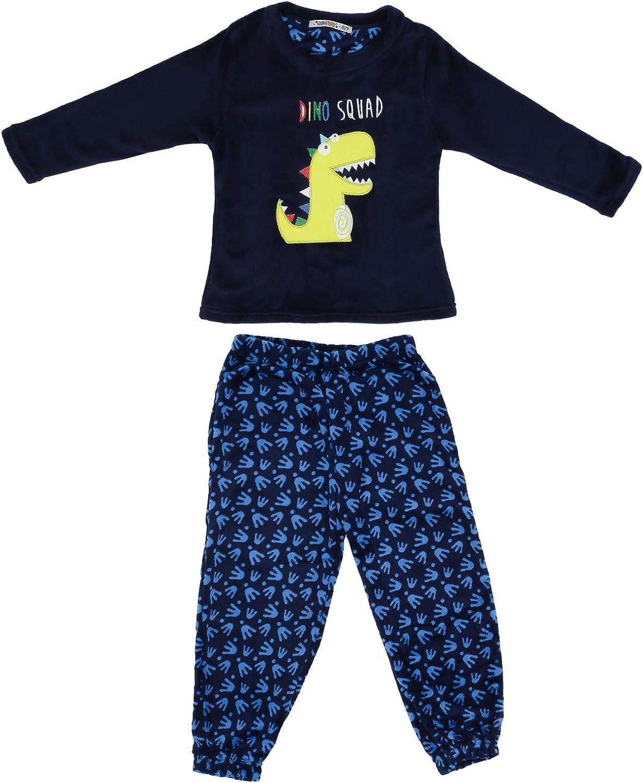 Pyjama en polaire super doux et confortable pour gar/çon avec haut /à manches longues et pantalon