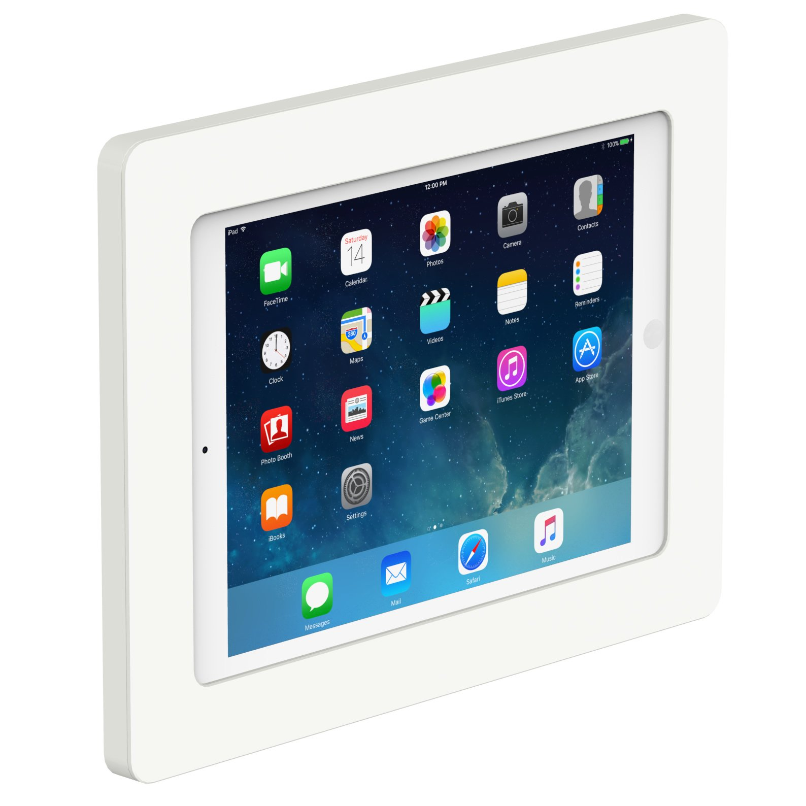 VidaMount On-Wall Tablet Mount - iPad (5th Gen) 9.7/Pro Air 1/2 - White