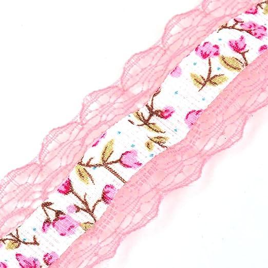 Amazon.com: Elaboración de la Cinta eDealMax Estampado de Flores de Encaje de cumpleaños de bricolaje Regalo decorativo Rollo Rosado coralino: Health ...