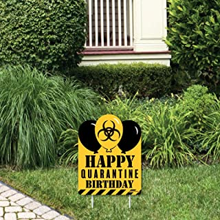 product image for Big Dot of Happiness Happy Quarantine Birthday - Outdoor Lawn Sign - Social Distancing Party Yard Sign - 1 Piece