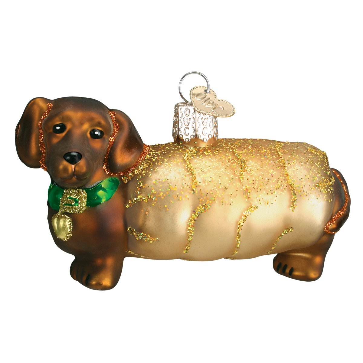 amazoncom old world christmas ornaments wiener dog glass blown ornaments for christmas tree home kitchen