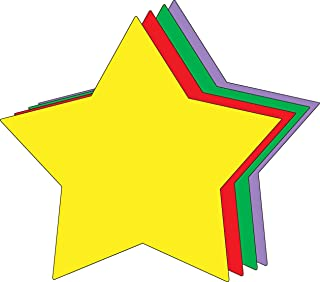 """product image for 8"""" x 10"""" Star Assorted Color Super Cut-Outs, 15 Cut-Outs in a Pack for Star Inspired Classroom/School Craft Projects"""
