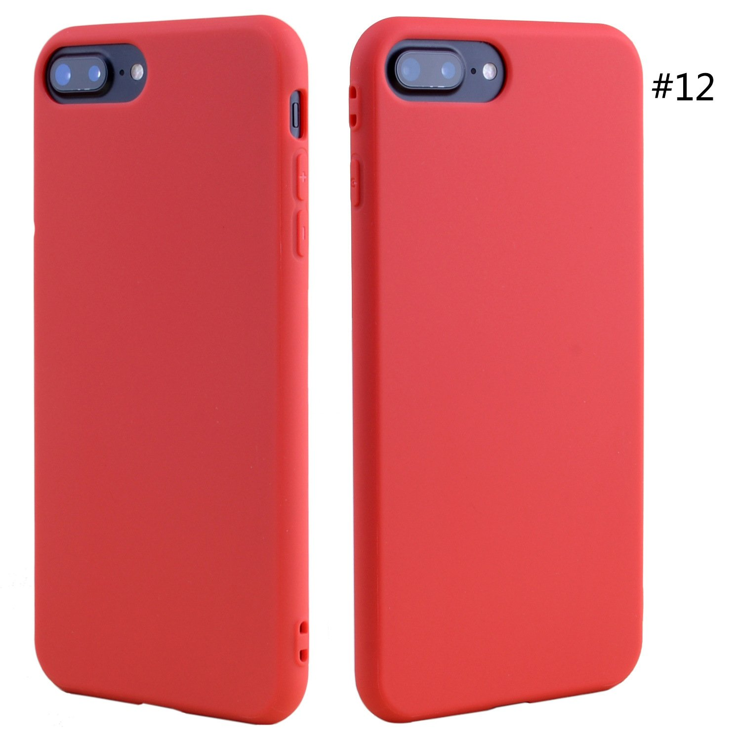 huge discount 78fde 162e0 CASE iPhone 8 Plus, case Cheap Phone Accessories Candy Colorful Ultra Thin  TPU Mobile Phone case for iPhone 8 Plus. RED. SERROT