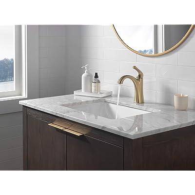 Buy Delta Faucet Arvo Single Hole Bathroom Faucet Gold Bathroom Faucet Single Handle Bathroom Faucet Bathroom Sink Faucet Drain Assembly Included Champagne Bronze 15840lf Cz Online In Indonesia B08px92hq7