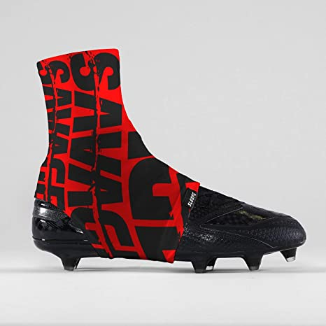 aa90dc23dc8 Image Unavailable. Image not available for. Color  Savage Chroma Red Black  Spats Cleat Covers