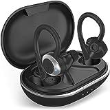 COMISO Wireless Earbuds, True Wireless in Ear Bluetooth 5.0 with Microphone, Deep Bass, IPX7 Waterproof Loud Voice Sport Earp
