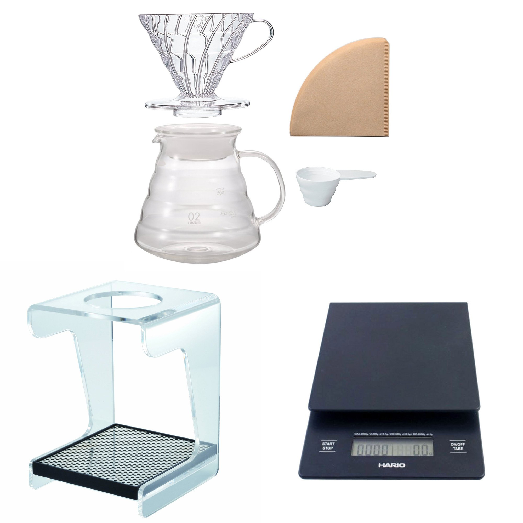 Hario V60 Complete Coffee Brewing Set - Scale, Brewer Set & Stand by Hario (Image #1)