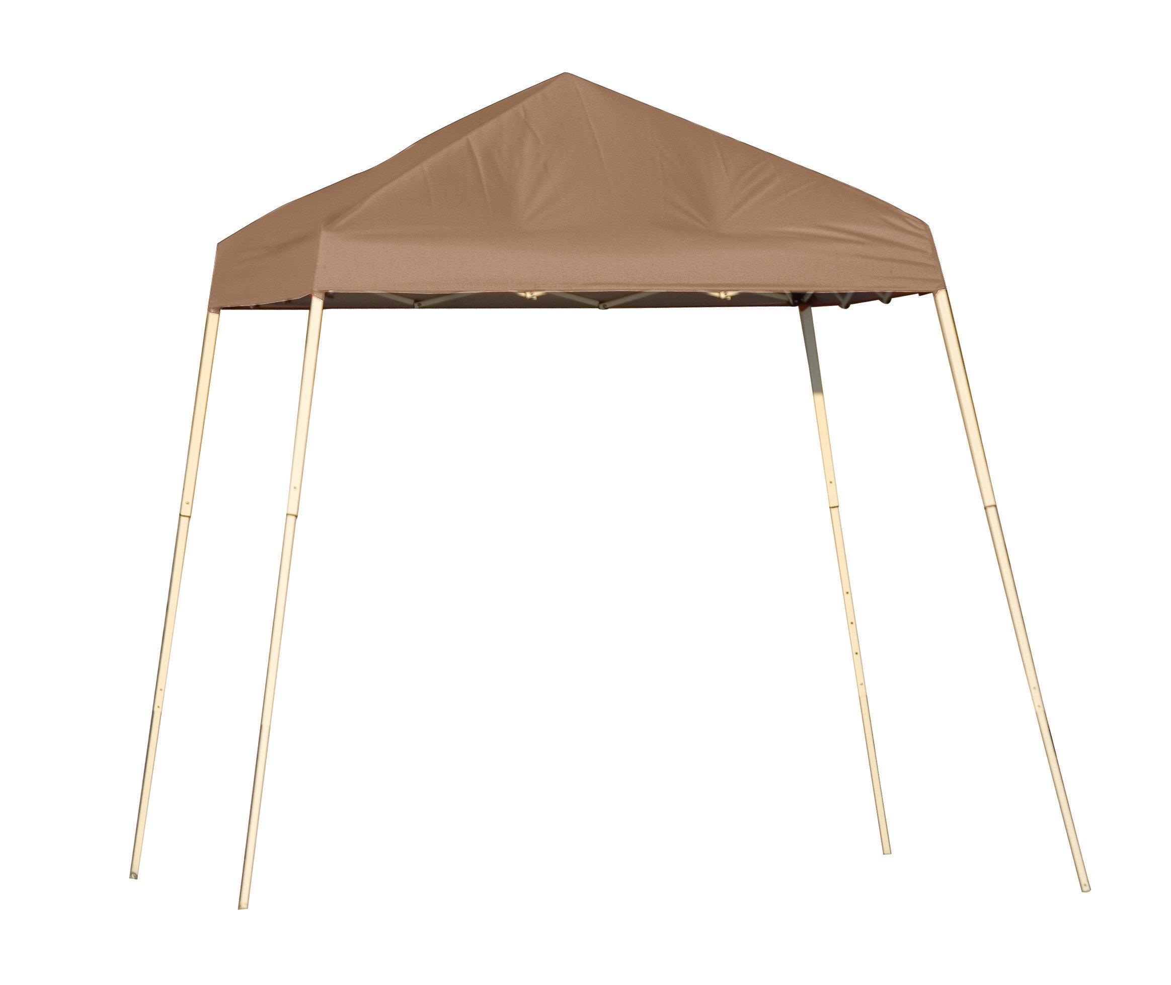 ShelterLogic Slant Leg Pop-Up Canopy with Carry Bag, Desert Bronze, 8 x 8 ft.
