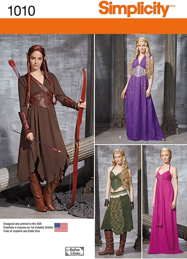 Simplicity Women's Elf Halloween, Ren Faire and Cosplay Costume Sewing Pattern, Sizes 6-14